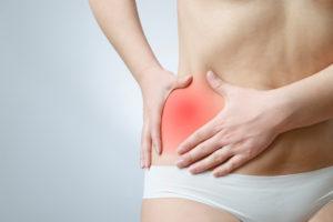 боль в левом боку на уровне талии спереди у женщин